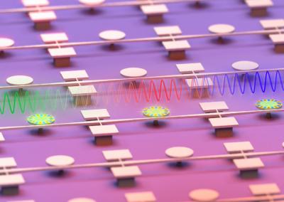 Cascade locking of several nano-optomechanical oscillators generated by light