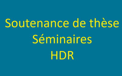 PhD defense /HDR/seminars