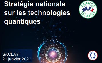 STRATÉGIE NATIONALE SUR LES TECHNOLOGIES QUANTIQUES