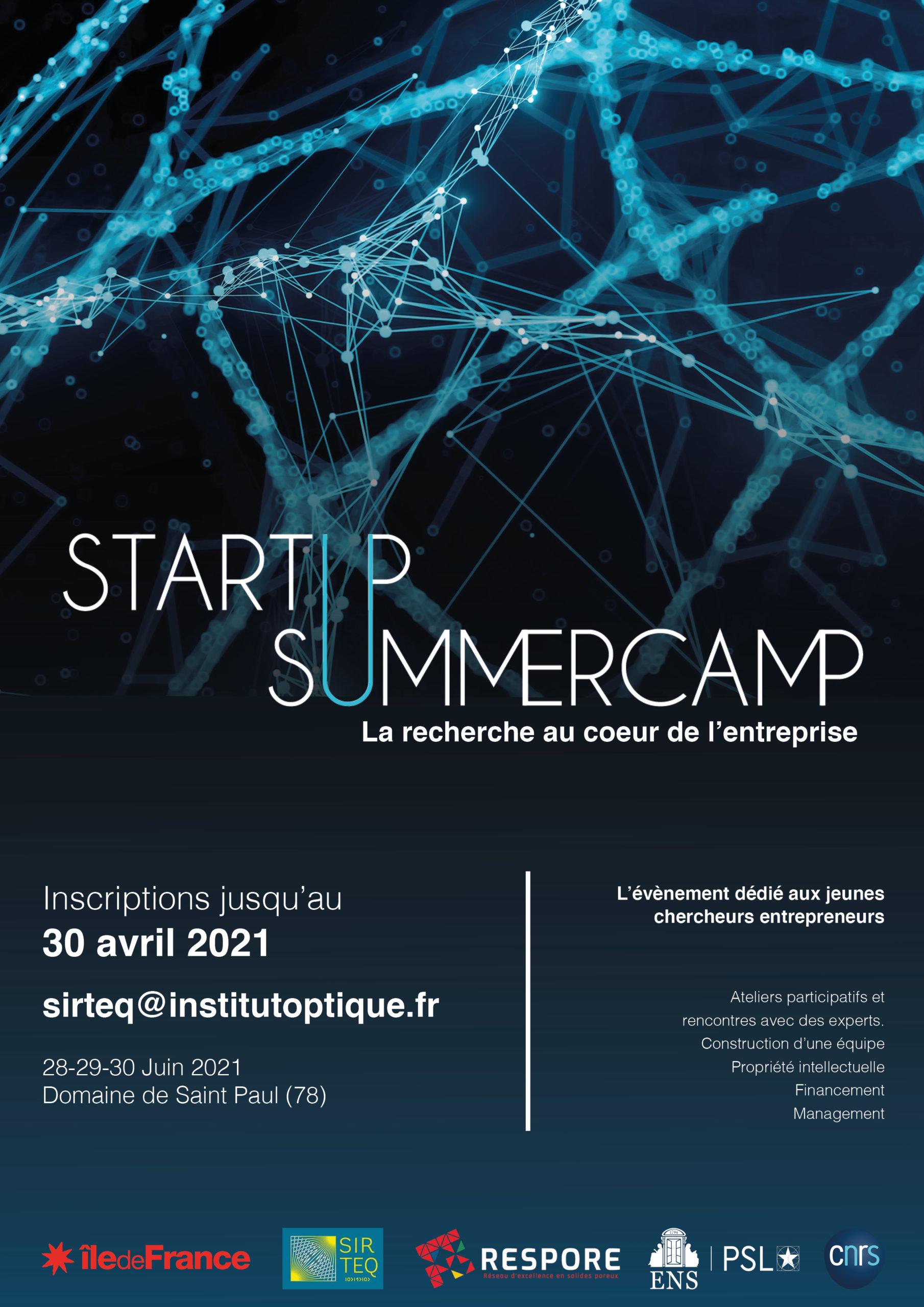 Ateliers Start-up 2021 : Valorisez la recherche par la création d'entreprise