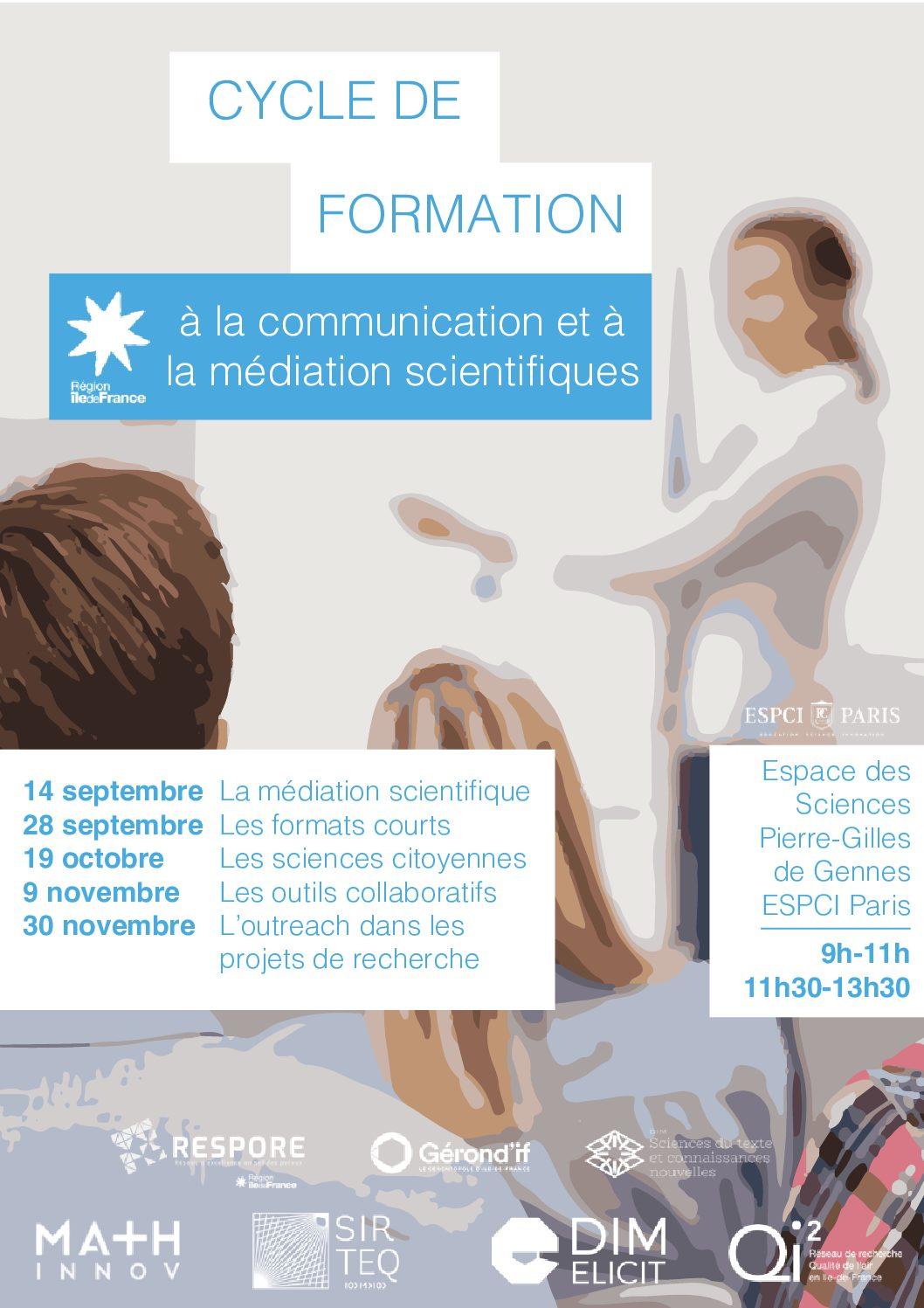 Cycle de formation à la communication et la médiation scientifiques
