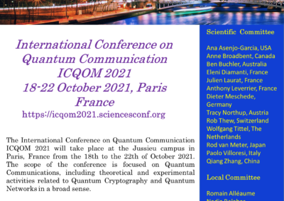 The International Conference on Quantum Communication ICQOM 2021